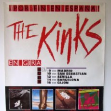 Fotos de Cantantes: THE KINKS. CARTEL ORIGINAL PROMOCIONAL DE LA GIRA ESPAÑOLA. 68 X 98 CMS.. Lote 128391267