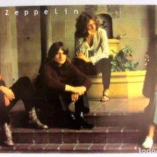 Fotos de Cantantes: LED ZEPPELIN. CARTEL ORIGINAL PROMOCIONAL DE LA BANDA. 76X51 CMS.. Lote 128391815