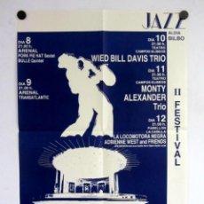 Fotos de Cantantes: II FESTIVAL DE JAZZ DE BILBAO, 1984. CARTEL ORIGINAL 43X61 CM.. Lote 128396619