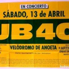 Fotos de Cantantes: UB40. CARTEL ORIGINAL DE CONCIERTO EN DONOSTIA - SAN SEBASTIÁN. 130X87 CMS.. Lote 128481991