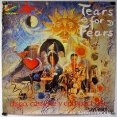 Fotos de Cantantes: TEARS FOR FEARS, THE SEED OF LOVE, 1989. CARTEL ORIGINAL PROMOCIONAL DEL ÁLBUM. 61X61 CMS.. Lote 128489827