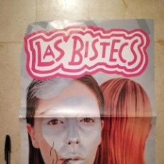 Fotos de Cantantes: CARTEL ORIGINAL -A3- LAS BISTECS - MUSICA - CONCIERTO BARCELONA - ELECTRO-DISGUSTING. Lote 129117451