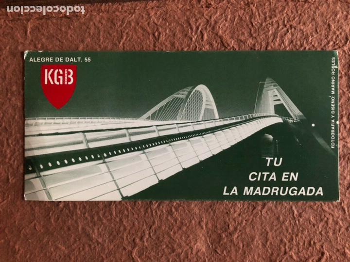 SALA KGB (BARCELONA). TARJETA PROMOCIONAL DE LA SALA BARCELONESA. FOTO Y DISEÑO: MARINO ROBLES.10x21 segunda mano