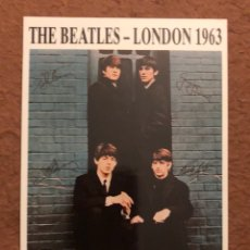 Fotos de Cantantes: THE BEATLES, LONDON 1963. POSTAL SIN CIRCULAR. 10,3 X 15 CMS.. Lote 130811192