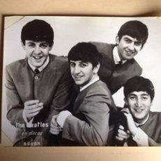 Fotos de Cantantes: BEATLES FOTOGRAFIA ORIGINAL PROMOCIÓN DISCOS ODEON 1964. Lote 131396343