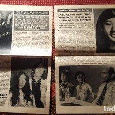 Fotos de Cantantes: RECORTES DE REVISTA (CLIPPPING) JOHN LENNON -4 HOJAS DE ARTICULOS REALIZADOS TRAS SU TRAGICA MUERTE. Lote 131992018