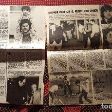 Fotos de Cantantes: RECORTES DE REVISTA (CLIPPING) - JOHN LENNON - 4 HOJAS DE LA REVISTA LECTURAS ORIGINALES DE LOS 80. Lote 131992222