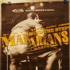 Fotos de Cantantes: POSTER MALARIANS: MIND THE STEP. NUEVOS MEDIOS. AÑO 1996. Lote 132582910