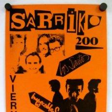 Fotos de Cantantes: LOS SANTOS + LOS IMPECABLES SARRIKO 1984. CARTEL ORIGINAL DEL CONCIERTO 31X43CMS.. Lote 132638666