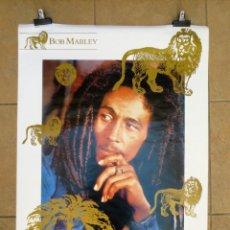 Fotos de Cantantes: POSTER BOB MARLEY THE LION LEGEND 1990. MEDIDAS 68 X 98. Lote 133460714