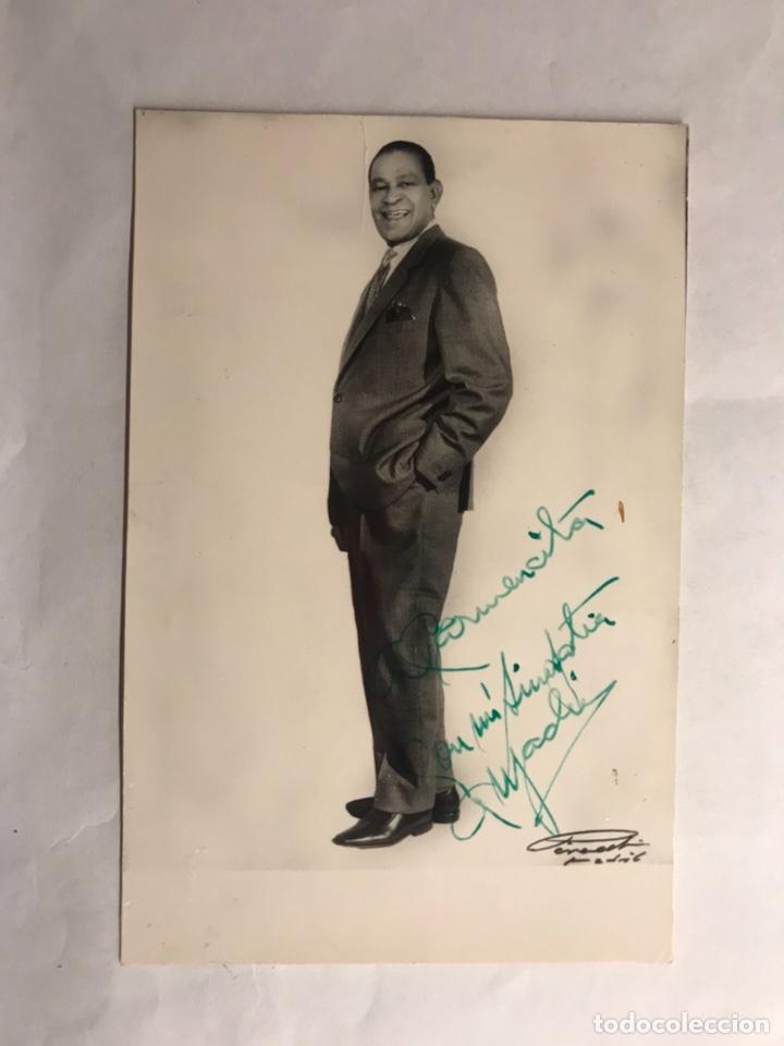 Fotos de Cantantes: ANTONIO MACHIN. Postal publicitaria Firmada por el Cantante (h.1950?) - Foto 2 - 133686974
