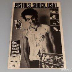 Fotos de Cantantes: ANTIGUA POSTAL DEL GRUPO DE MUSICA - SEX PISTOLS - SHOCK USA - SID VICIOUS AÑOS 70 / 80. Lote 134307590