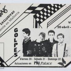 Fotos de Cantantes: POSTAL PUBLICITARIA GOLPES BAJOS - ABRAXAS / RIU PALACE CENTRE, MALLORCA - GERMÁN COPPINI - AÑOS 80. Lote 134489094