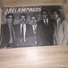 Fotos de Cantantes: CARTEL ORIGINAL DE EPOCA LOS RELAMPAGOS. Lote 135730067