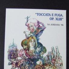 Fotos de Cantantes: POSTAL DIBUJO BOCETO FALLA BEATLES MOZART NA JORDANA VALENCIA 1996 ARTISTA MIQUEL SANTAEULALIA. Lote 193676720