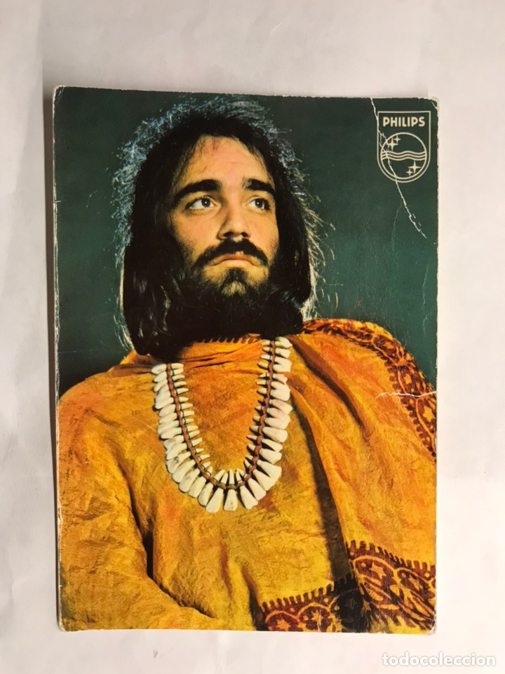 DEMIS ROUSSOS. POSTAL PUBLICITARIA PHILIPS (A.1972) (Música - Fotos y Postales de Cantantes)