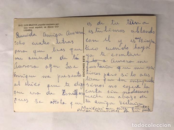 Fotos de Cantantes: LOS BRAVOS. Grupos Musicales. Postal No.25 C. Edita: ediciones Este (a.1967) - Foto 2 - 139485454