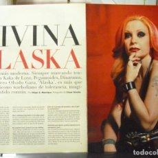 Fotos de Cantantes: DIVINA ALASKA. FOTO REPORTAJE DE ALASKA - OLVIDO GARA (EL PAÍS SEMANAL Nº 1347), 2002.. Lote 140334538