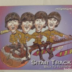 Fotos de Cantantes: BEATLES POSTAL ROCKY CARTOON SITAR TRACK BACK TO YESTERDAY PETER BETTINGER. Lote 142142917