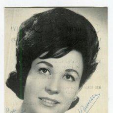 Fotos de Cantantes: MARIA DEL CARMEN FOTO PROMOCIONAL DISCOS COLUMBIA DEDICADA DE SU PUÑO Y LETRA VER REVERSO. Lote 142015586