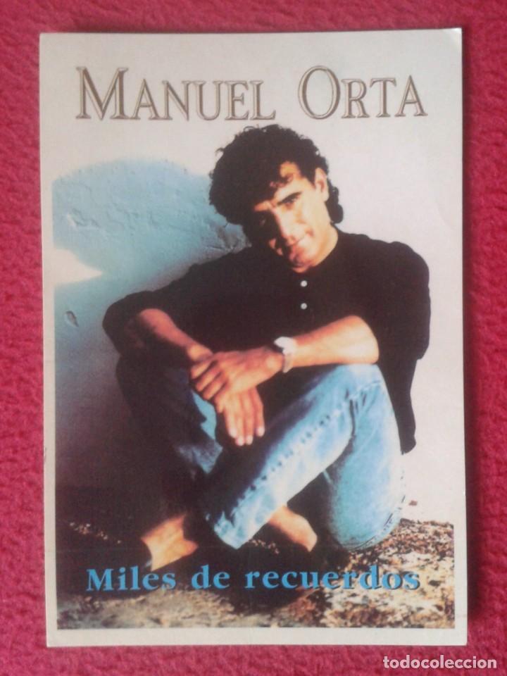 TARJETA POSTAL POST CARD CARTE POSTALE CANTANTE MANUEL MANOLO ORTA SEVILLANAS CON DEDICATORIA FIRMA (Música - Fotos y Postales de Cantantes)