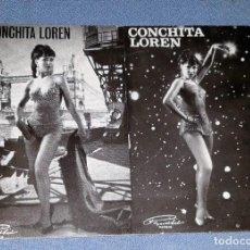 Fotos de Cantantes: POSTAL DE CONCHITA LOREN AÑOS 60 VER FOTOS Y DESCRIPCION. Lote 144257774