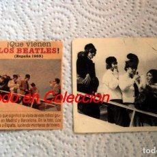 Fotos de Cantantes: LOS BEATLES:LLEGADA A BARCELONA-3 DE JULIO 1965-CROMO Y RECORTE REVISTA ANTIGUO COLOR-COLECCIONISTAS. Lote 144772906