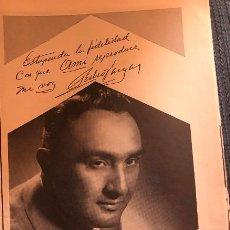 Fotos de Cantantes: PUBLICIDAD EN PRENSA DE GRAMOLAS AMI, CON EL CANTANTE PEDRO VARGAS. ORIGINAL AÑO 1954. 13 X 36 CM.. Lote 147003822