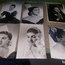 Fotos de Cantantes: DIANA MARQUEZ, 6 FOTOGRAFIA ORIGINALES DE LA CANTANTE DE CANCION ESPAÑOLA, DE 14 X 9 CM.. Lote 147018226