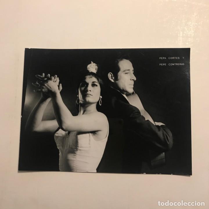 Pepa Cortes y Pepe Contreras. Flamenco gitano. París. Foto René Robert