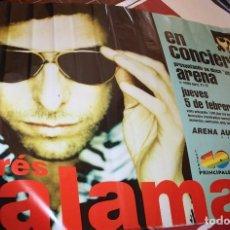 Fotos de Cantantes: CARTEL POSTER ANDRES CALAMARO. 1997. ORIGINAL. ARENA AUDITORIUM VALENCIA. LOS RODRIGUEZ. Lote 147181238