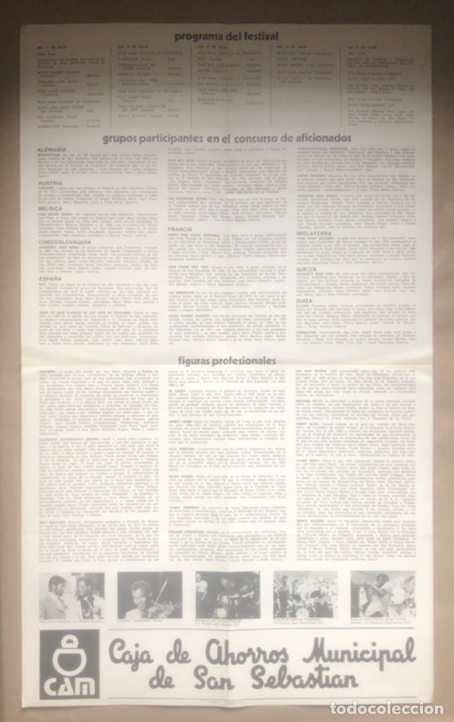 Fotos de Cantantes: VIII FESTIVAL INTERNACIONAL DE JAZZ DE SAN SEBASTIÁN 1983. CON EL PROGRAMA AL DORSO. 36 x 59 Cms. - Foto 3 - 147602594