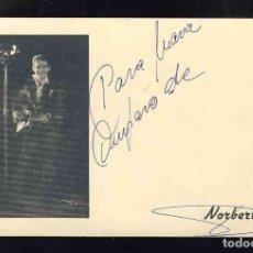 Fotos de Cantantes: FOTO POSTAL DE CANTANTES: NORBERTO. Lote 147815398
