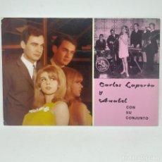 Fotos de Cantantes: 791 CARLOS LAPORTA Y ANABEL CON SU CONJUNTO 10 X 15 CM. SIN CIRCULAR. Lote 147849206
