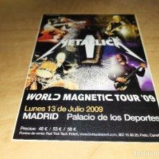 Fotos de Cantantes: METALLICA FOTO PROMOCIONAL CONCIERTO MADRID 2009-IRON MAIDEN (COMPRA MINIMA 15 EUROS). Lote 148109038