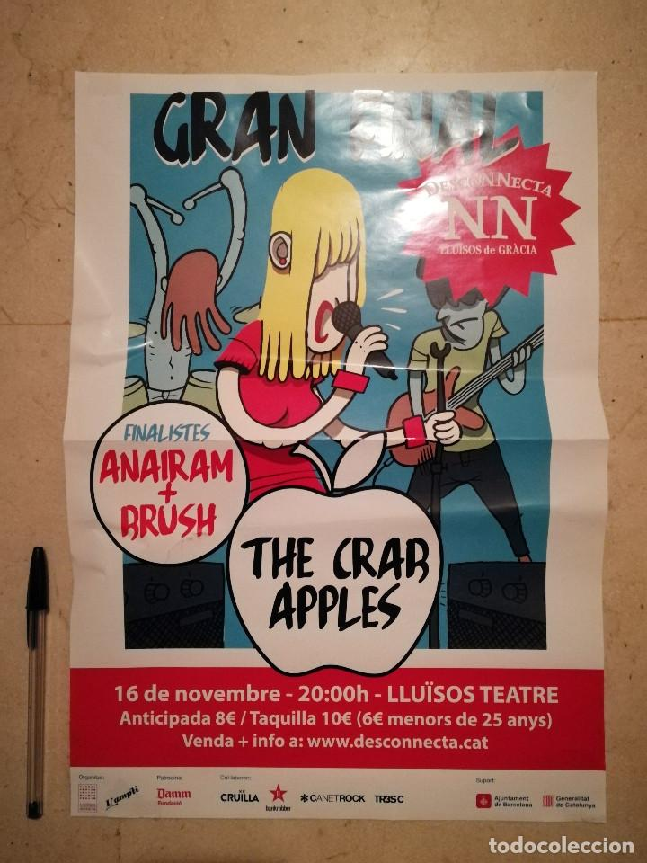 CARTEL ORIGINAL -A3- THE CRAB APPLES - ROCK POP INDIE (Música - Fotos y Postales de Cantantes)