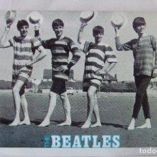 Fotos de Cantantes: POSTAL THE BEATLES EN LA PLAYA ANABAS AP233. Lote 151094918