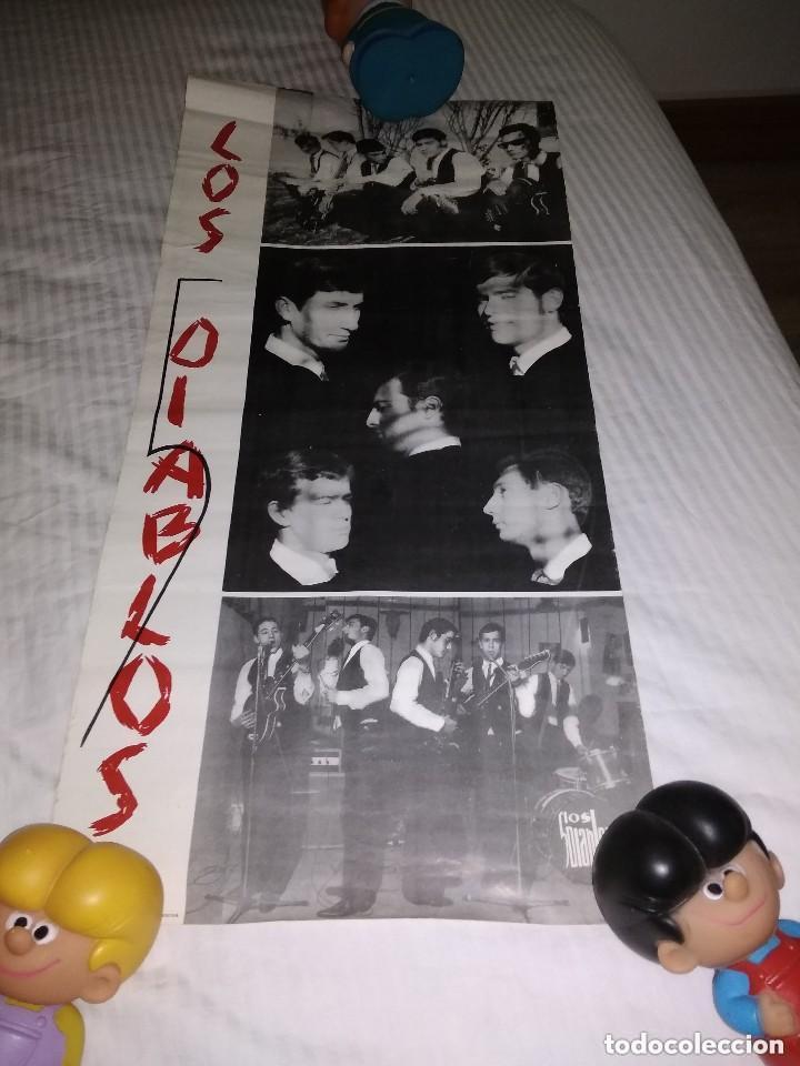 LOS 5 DIABLOS / ORIGINAL CARTEL DE EPOCA AÑOS 60 (Música - Fotos y Postales de Cantantes)