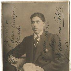 Fotos de Cantantes: AUTOGRAFO ALEJANDRO NOLLA 1915 DEDICATORIA MAESTRO JUAN ROSES EL GRAN LICEO DE BARCELONA. Lote 153477038