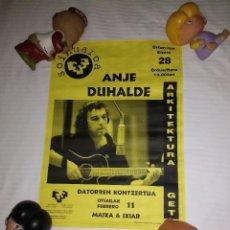 Fotos de Cantantes: ANJE DUHALDE / ORIGINAL CARTEL DE EPOCA . Lote 153700682
