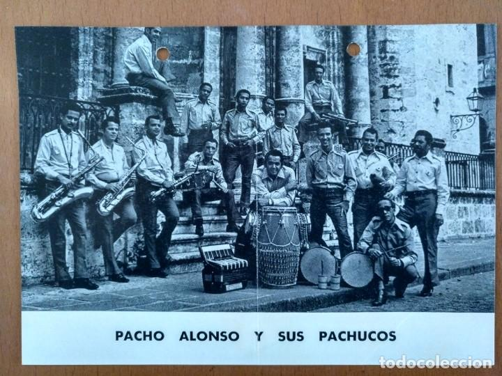 PROMOCION PACHO ALONSO Y SUS PACHUCOS AÑOS 70 PRODUCCIONES ALFREDO SAAVEDRA BARCELONA GRUPO CUBANO (Música - Fotos y Postales de Cantantes)
