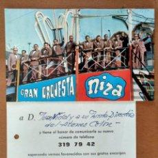 Fotos de Cantantes: POSTAL CARTA PROMOCION GRAN ORQUESTA NIZA BARCELONA AÑOS 70. Lote 153823766