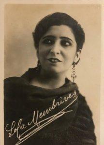 Lola Membrives. Fotografía / Tarjeta postal original.