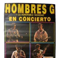 Fotos de Cantantes: HOMBRES G. HISTÓRICO CARTEL ORIGINAL CONCIERTO PLAZA DE TOROS DE BILBAO 25/6/1987.. Lote 155290950