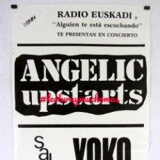 Fotos de Cantantes: ANGELIC UPSTARTS. HISTÓRICO CARTEL ORIGINAL CONCIERTO EN LA MÍTICA SALA YOKOS (BILBAO), 10/5/1986.. Lote 155694630