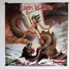Fotos de Cantantes: ÁNGELES DEL INFIERNO. DIABOLICCA (1993). ESPECTACULAR CARTEL PROMOCIONAL POR K. VIGIL. 48X48CMS.. Lote 155694974
