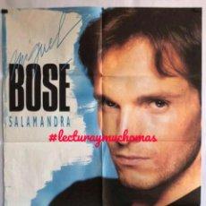 Fotos de Cantantes: MIGUEL BOSÉ - SALAMANDRA - CARTEL HISTÓRICO ORIGINAL DE 1986. 68 X 91 CMS.. Lote 155695826