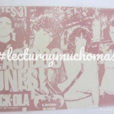 Fotos de Cantantes: SALA ROCK-OLA. FLÁCIDOS LUNES. CARTEL ORIGINAL CONCIERTO EN LA MÍTICA SALA, MOVIDA MADRILEÑA. 1984.. Lote 155690206