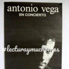 Fotos de Cantantes: ANTONIO VEGA, NO ME IRÉ MAÑANA (1991). CARTEL ORIGINAL CON DEDICATORIAY FIRMA DE ANTONIO.. Lote 155690742