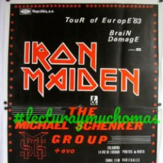 Fotos de Cantantes: IRON MAIDEN + THE MICHAEL SCHENKER GROUP + EVO. TOUR '83. HISTÓRICO CARTEL ORIGINAL CONCIERTO SAN SE. Lote 155691434